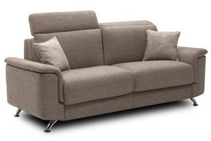 WHITE LABEL - canapé 2-3 places empire convertible système rapid - 3 Seater Sofa