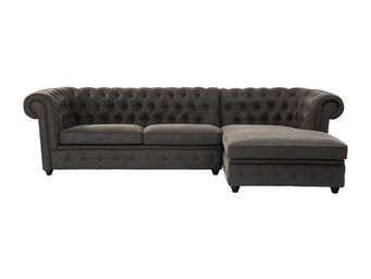 Kare Design - canapé d angle oxford graphit droit - Adjustable Sofa