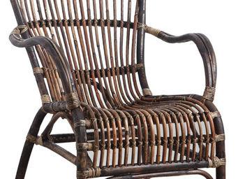 Aubry-Gaspard - fauteuil en rotin antique - Armchair