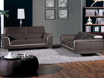 WHITE LABEL - canapé 3p + canapé 2p - michele - l 202 x l 105 x - 2 Seater Sofa
