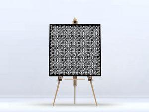 la Magie dans l'Image - toile anis noir blanc - Digital Wall Coverings