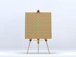la Magie dans l'Image - toile pattern paon - Digital Wall Coverings
