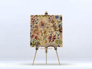 la Magie dans l'Image - toile végétal beige - Digital Wall Coverings