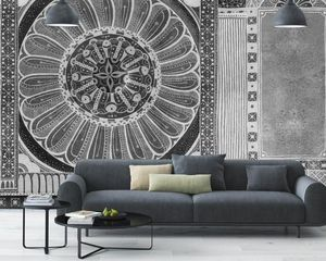 IN CREATION - india noir & blanc - Panoramic Wallpaper