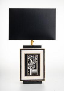 Emaux De Longwy - motifs - Table Lamp