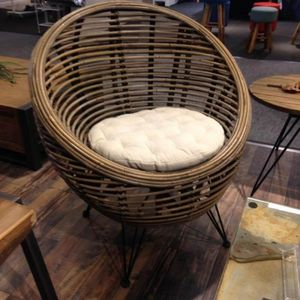 Mathi Design - fauteuil design ball rotin - Armchair
