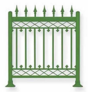 AL DESIGN -  - Fence With An Openwork Design