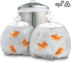 Suck Uk - goldfish - Bin Bag