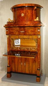 KUNST UND ANTIQUITATEN EHRL - biedermeier walnut bureau cabinet - Office Desk