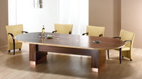 Act Furniture Manufacturers - nimbus natural walnut with maple edge - Meeting Table
