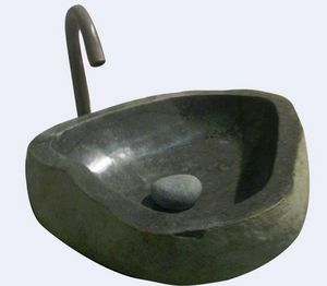 MEMOIRE DES ORIGINES - vasques pierre taillée - Freestanding Basin