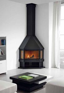ROCAL - estela - Corner Fireplace With Door