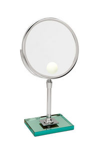 Miroir Brot - elegance 24 spot sur dalle de verre - Lighted Tabletop Mirror
