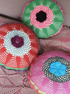 NATHALIE LETÉ - crocheté - Round Cushion