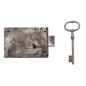 FERRURES ET PATINES - serrure de meuble grand coffre enfer pour armoire - Keyhole