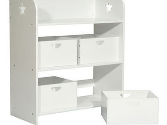 Miliboo - etoile rangement 4 box blanc - Children's Shelf