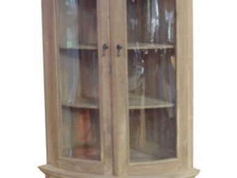 COMPTOIR D'OUTREMER - w106a - Corner Display Cabinet