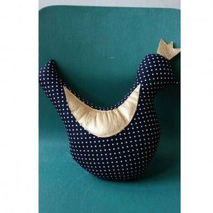 CREME ANGLAISE - crème anglaise - coussin hochet mini royal bird bl - Children's Pillow