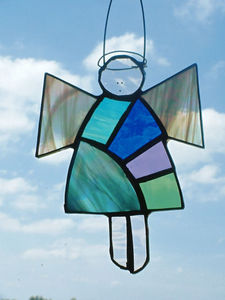 Karen Davies Stained Glass - patchwork angel - Stained Glass