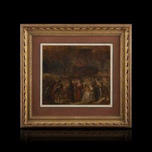 Expertissim - pauline auzou. entrée de louis xviii à paris (?) - Landscape Painting