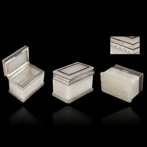 Expertissim - petit coffret à tabac rectangulaire en agate ruban - Jewellery Box