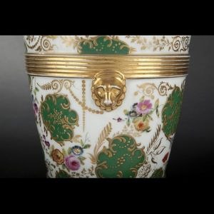 Expertissim - paris. paire de jardinières en porcelaine - Interior Windowbox