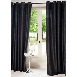 Maisons du monde - rideau lido noir - Eyelet Curtain