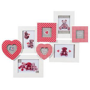 MAISONS DU MONDE - cadre multivues emilie blanc vichy rouge - Children's Photograph Frame