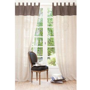 MAISONS DU MONDE - rideau camélia - Tab Top Curtain