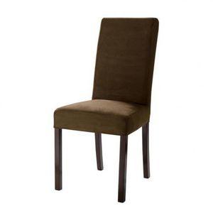 Maisons du monde - housse chocolat microsuède margaux - Loose Chair Cover