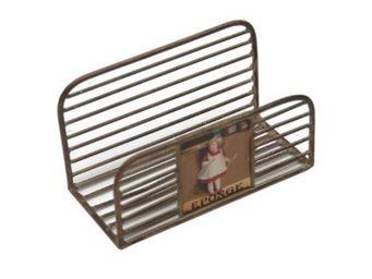 Antic Line Creations - porte éponge petite fille en métal vieilli 13x6x7, - Soap Dish
