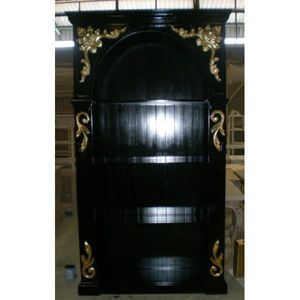 DECO PRIVE - bibliotheque baroque en bois noir et dorures - Bookcase