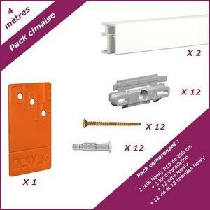 NEWLY - pack cimaise r10 - 4 mètres - Picture Rail