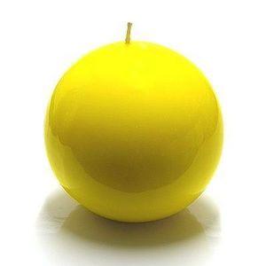 Cerabella - bougie ronde jaune - Round Candle