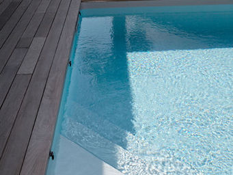 CARON PISCINES - escalier angle - Conventional Pool