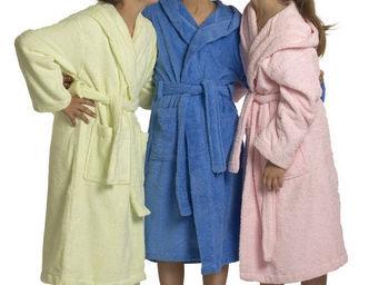 SIRETEX - SENSEI - peignoir enfant à capuche uni 450gr/m² - Children's Dressing Gown