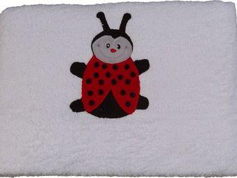 SIRETEX - SENSEI - carré 100x100cm éponge brodée tess la coccinelle - Children's Bath Towel