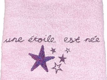 SIRETEX - SENSEI - drap de douche 70x140cm brodé 500 gr/m² star - Children's Bath Towel