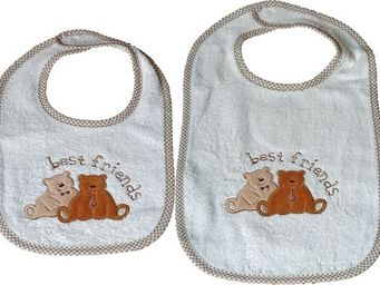 SIRETEX - SENSEI - bavoir scratch teddy friends - Bib
