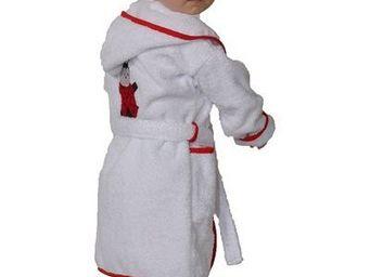 SIRETEX - SENSEI - peignoir enfant brodé tess la coccinelle - Children's Dressing Gown