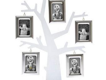 Present Time - cadre photo arbre généalogique - couleur - argenté - Photo Frame