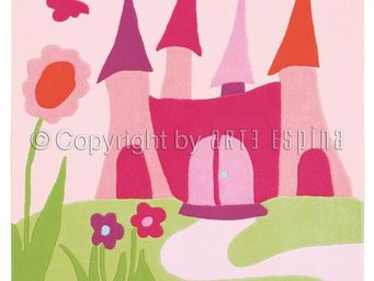 Arte Espina - tapis design enfant - le château des fées - Children's' Rug