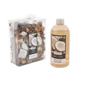 WHITE LABEL - pot pourri recharge liquide de parfum coco des île - Potpourri
