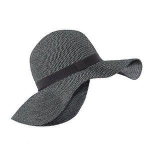 WHITE LABEL - capeline chic femme paille pliable et galon - Hat