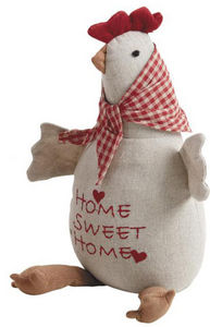 Aubry-Gaspard - cale-porte poule écru - Door Wedge