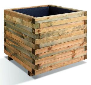 JARDIPOLYS - bac à fleurs carré stockholm 532 litres en pin 100 - Flower Container