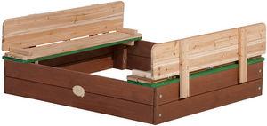 AXI - bac à sable en cèdre avec bancs et couvercle - Sandbox