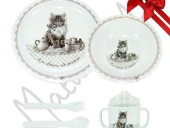 Mathilde M - mon premier coffret repas la dinette de minette - - Kid Table Service