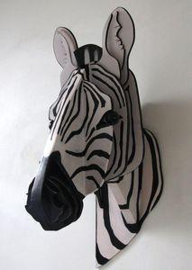 SYLVIE DELORME - zèbre - Animal Sculpture