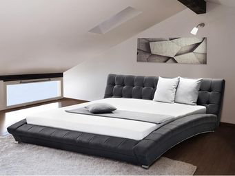 BELIANI - anthracite 180x200 cm - Waterbed